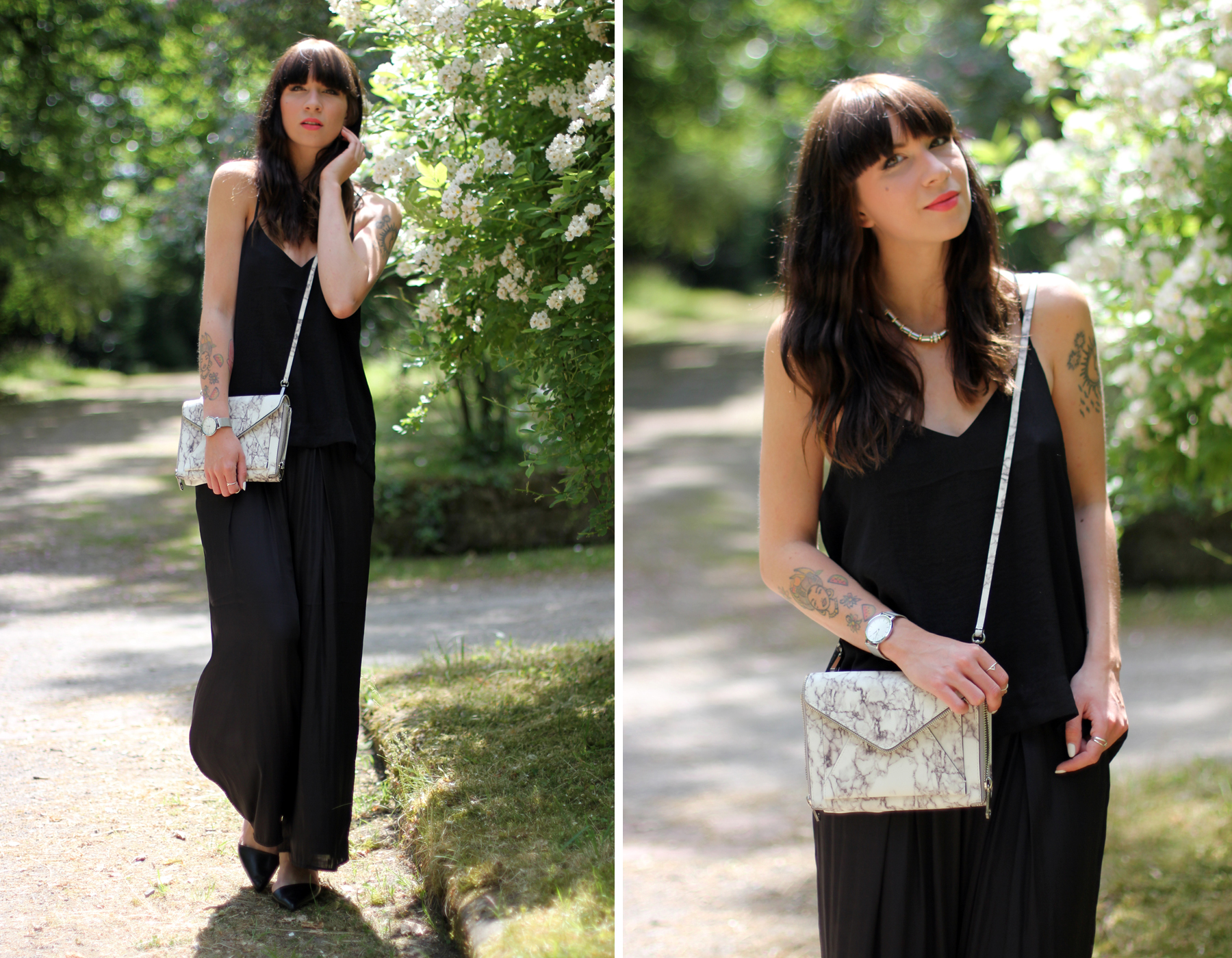 black outfit summer marble bag cute rebecca minkoff shopbop cute roses fashion blogger berlin düsseldorf ricarda schernus cats & dogs blog 1