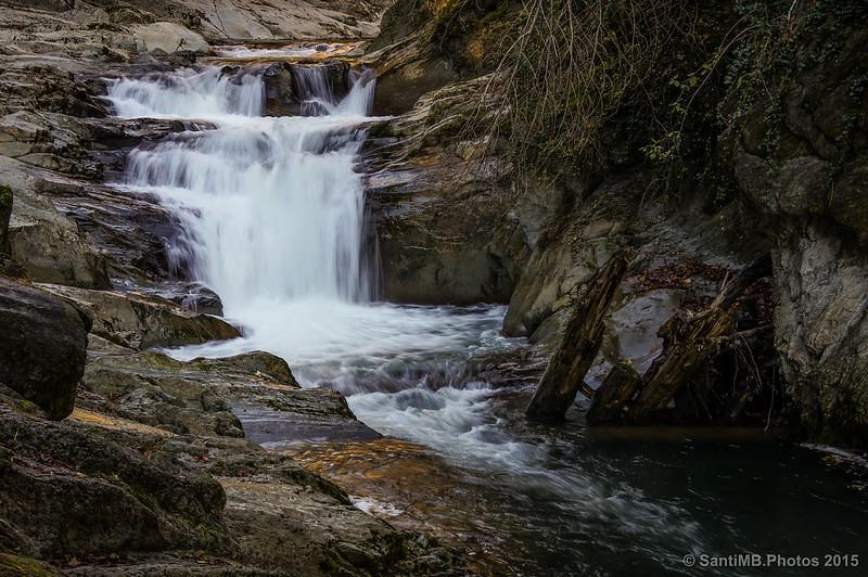 La Cascada del Cubo desde la roca mirador