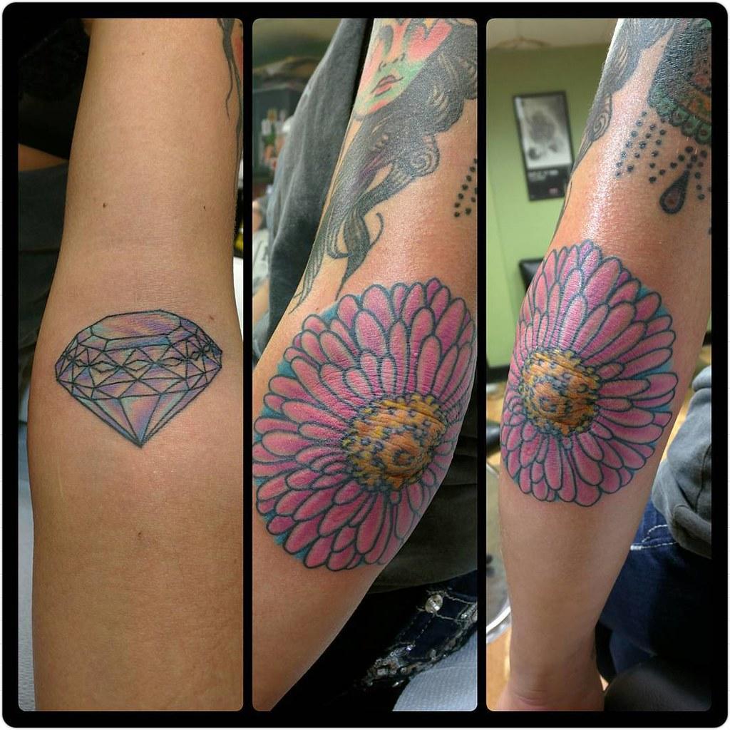 Tuff elbow gerber daisy flower and ditch diamond ta flickr elbow gerber daisy flower and ditch diamond tattoos izmirmasajfo