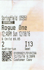 Rogue One ticketstub