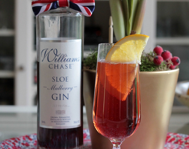 Sloe Gin and Slice of Orange