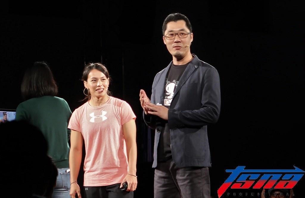 郭婞淳(圖左)。(李心筠/攝)