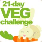 Veggie challenge button