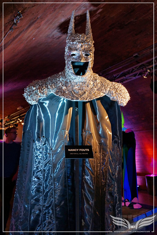 The Establishing Shot: BATMAN: ARKHAM KNIGHT CAPE & COWL EXHIBITION - ONE FOR ALL, ALL FOR ONE BY NANCY FOUTS - KACHETTE, LONDON