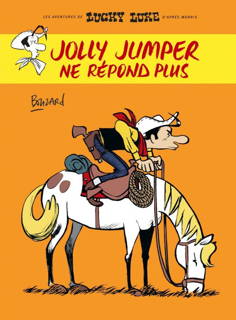 Truyện tranh miền viễn tây: Jolly Jumper ne répond plus (tạm dịch Jolly Jumper bị mất tiếng), Guillaume Bouzard, NXB Dargaud, 48 trang, 14€