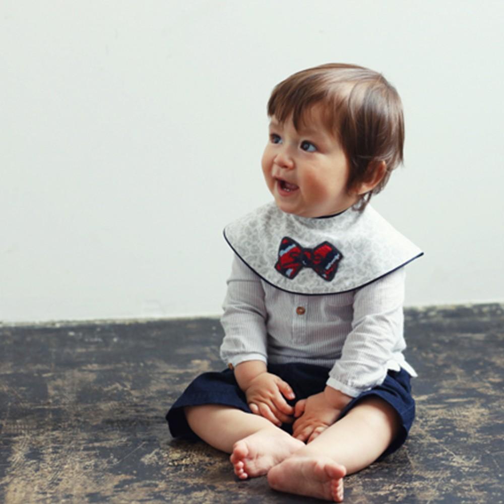 Cute Kids Baby Boy Newborn Bib Formal Bow Tie Gentleman Feeding Home Great Gift