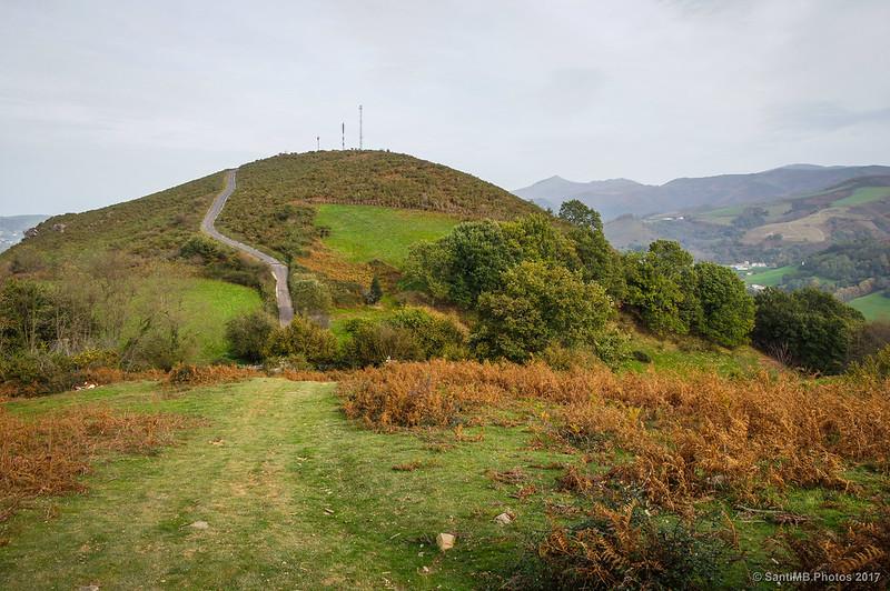 Llegando al monte Argandoita