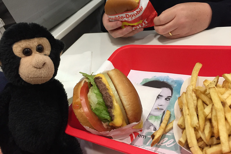 Monkey at In-N-Out Burger