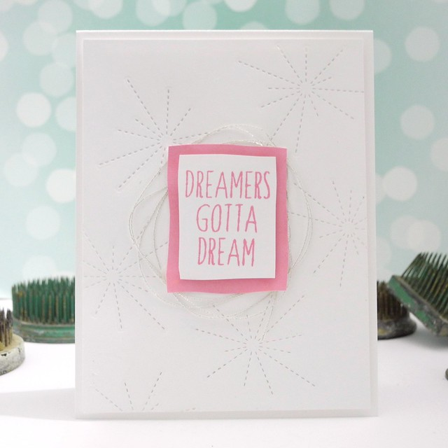 Dreamers Gotta Dream by Jennifer Ingle #justjingle #simonsaysstamp #ssscoloroffun #stamping #cards