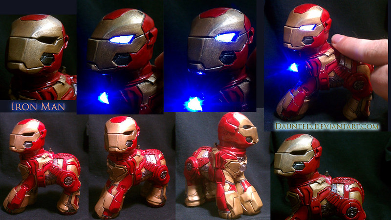 Custom pop culture My Little Pony by daunted - Iron Man Pony Stark
