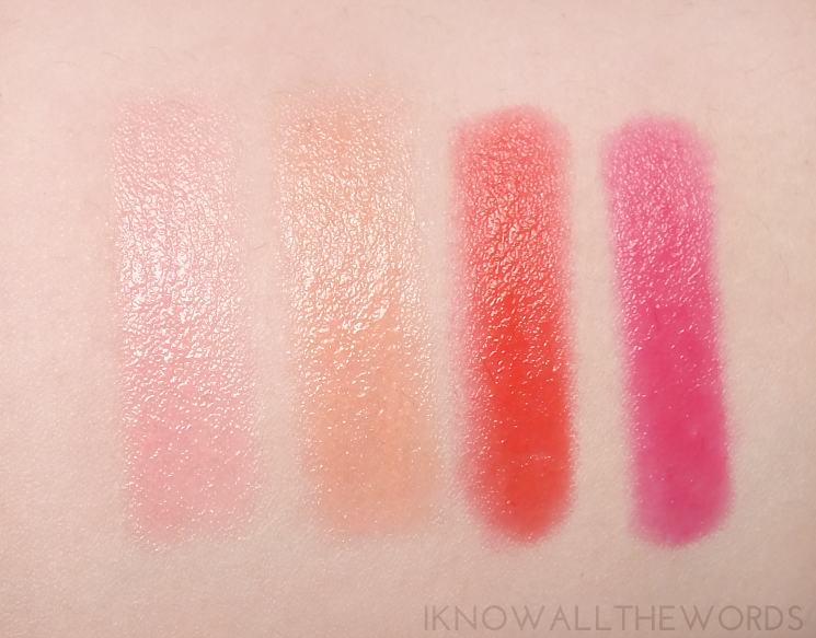 yves rocher summer creation radiant lip crayon swatches