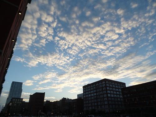 Evening in downtown Cincinnati