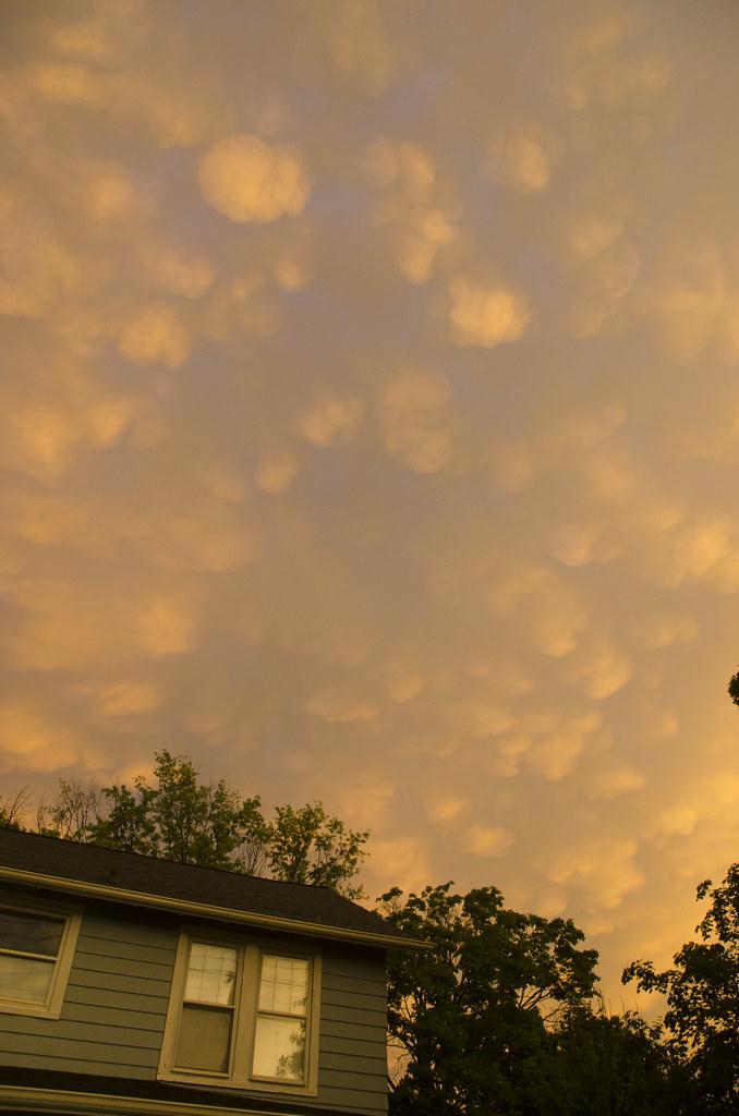 Mammatus Clouds over Catonsville 1