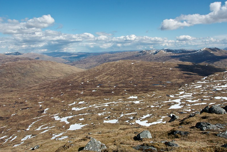 Boggy land east of Beinn Heasgarnich