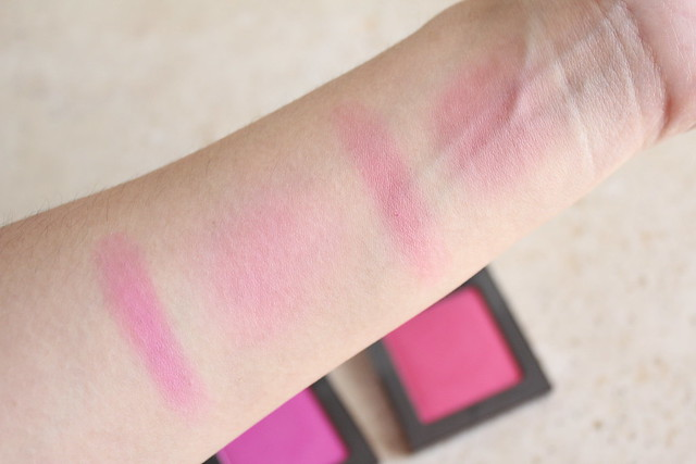 Urban decay Afterglow 8-Hour Blush in Quickie swatches