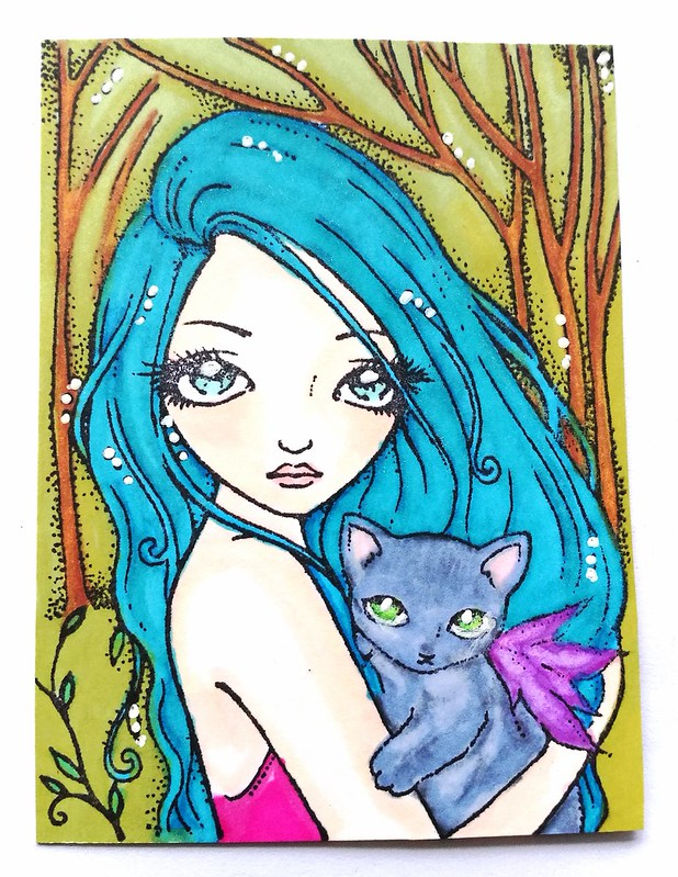 Sweetpea kitty girl ATC