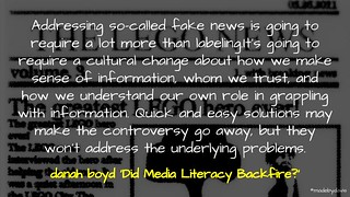 'Did Media Literacy Backfire? | by mrkrndvs