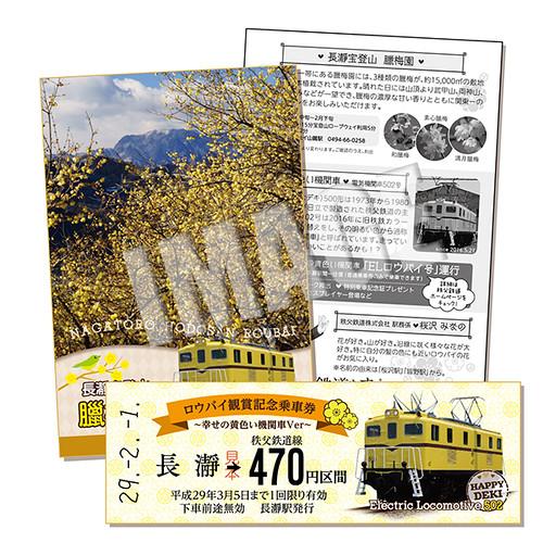ロウバイ観賞記念乗車券~幸せの黄色い機関車ver~