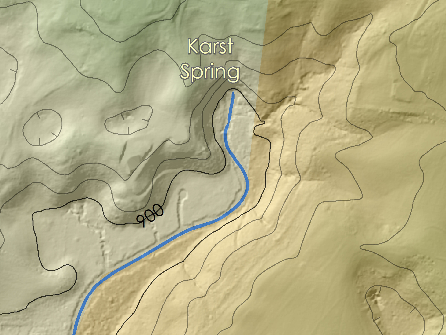 By Following Town Spring To Its Source You Can Find This Location On The Map Karst Springs Are Places Where