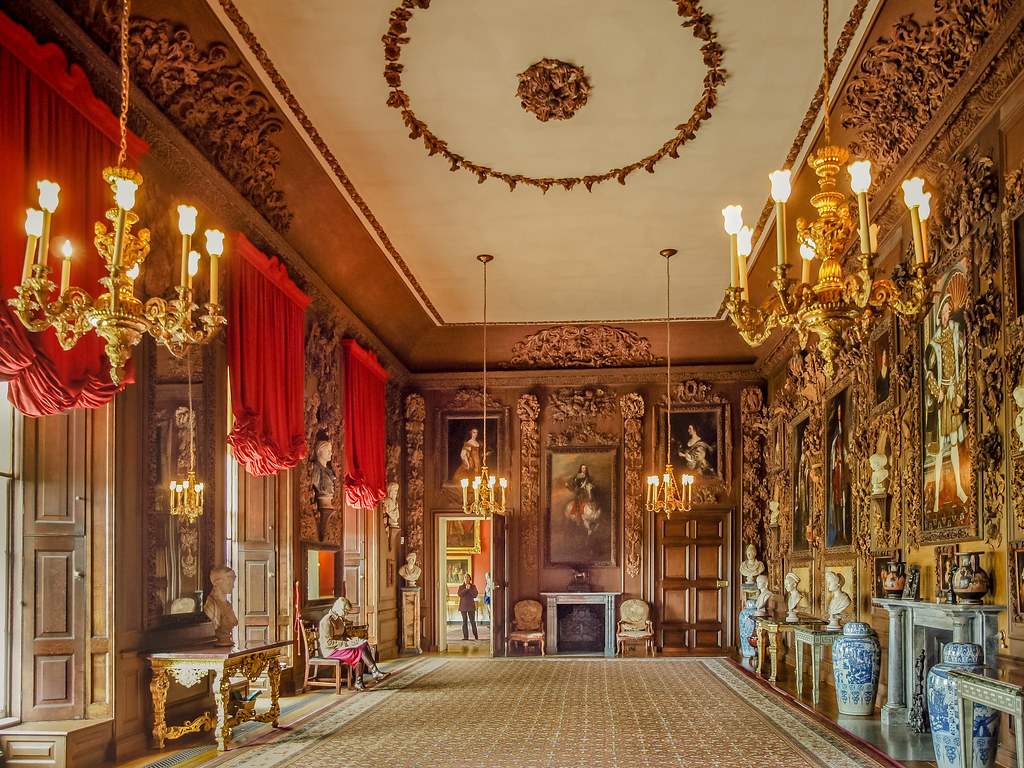 The Carved Room Of Petworth House In East Sussex The