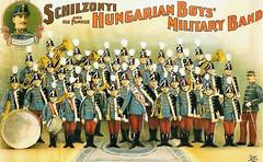 Nikolaus Schilzonyi (links oben) mit Band 1899-1901 auf Amerikatournee