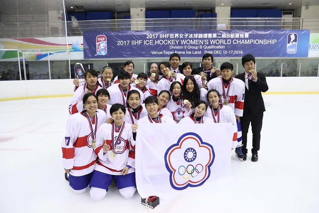 中華女子冰球隊。(王冠文提供)
