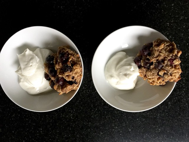 7 ingredient healthy cookies and greek yogurt