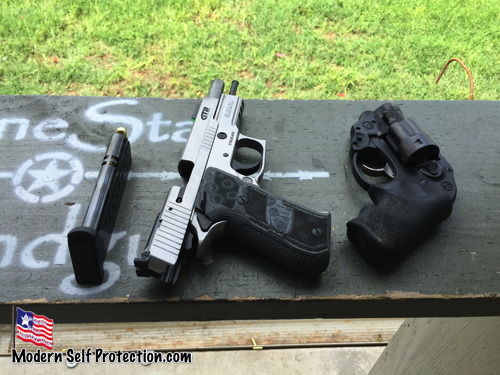 SIg GT 20 next to Ruger LCR