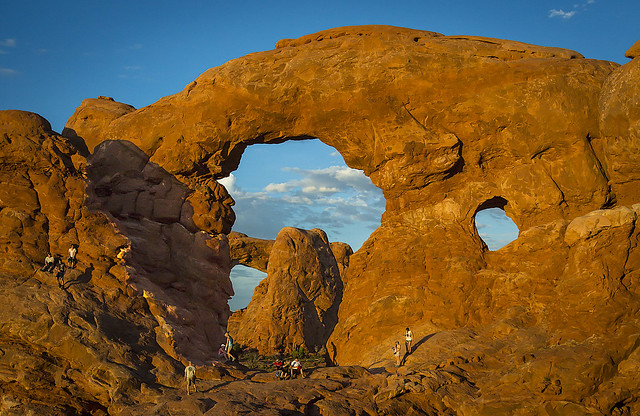 Hikers Enjoying the Arches