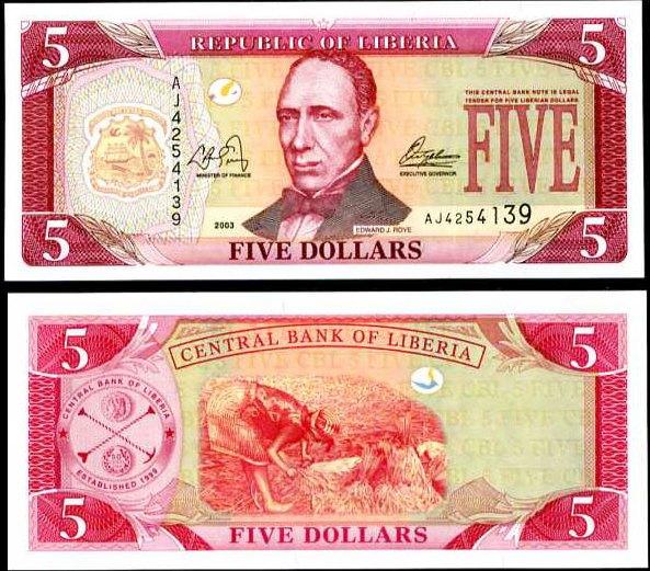 5 Dolárov Libéria 2003