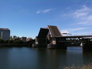 The Morrison bridge is open