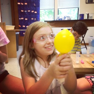 Science Palooza camp doing chemistry experiments in #SummerScape. | by msr_miners
