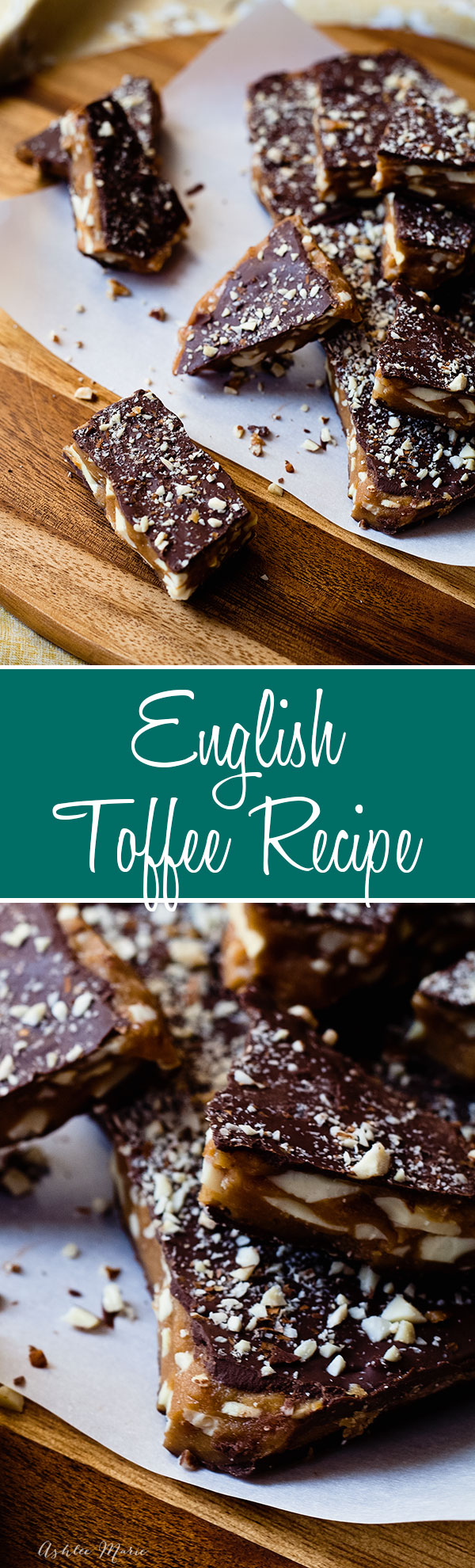 the perfect toffee recipe, you can make it thick or thin and top with your favorite chocolate