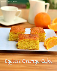 Eggless Orange cake without condensed milk