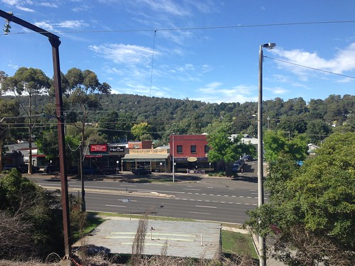 Upper Ferntree Gully shops from train