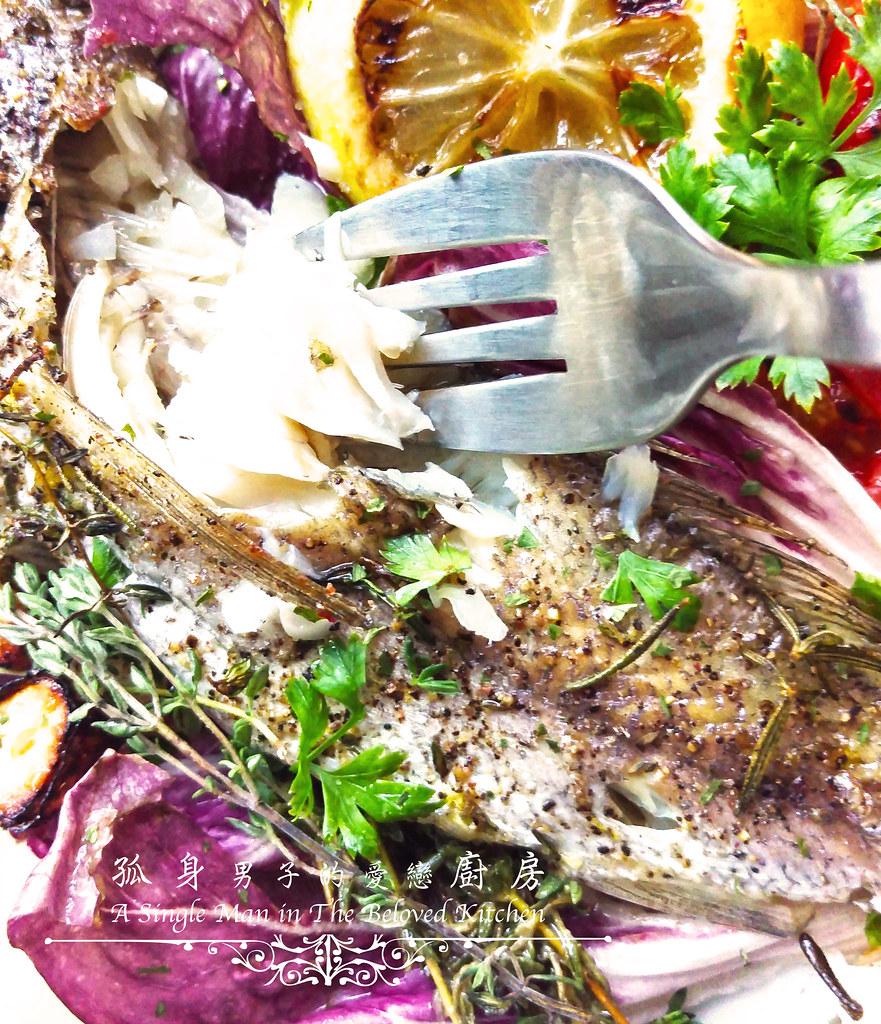 孤身廚房-地中海風味烤黑喉魚佐鑄鐵烤盤烤蔬菜14