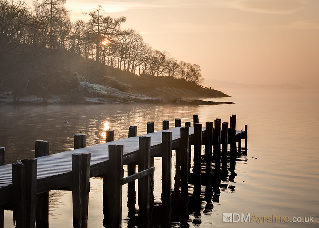 Loch Lomond jetty at sunrise [5D3_4205]