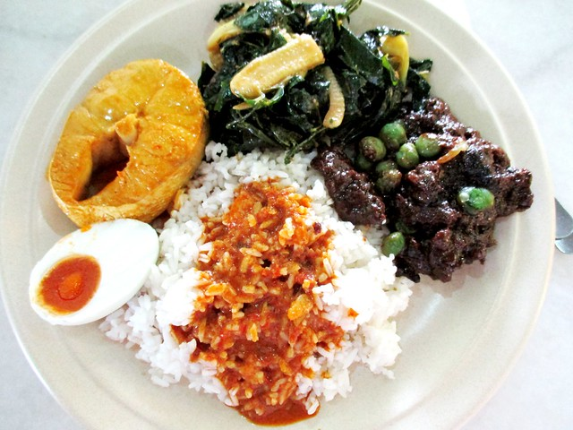 Ameer MZ Cafe nasi campur selections