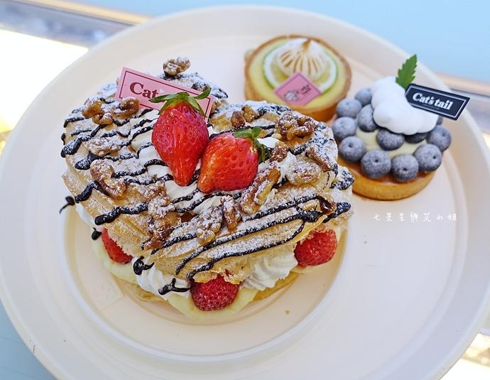 6 貓尾巴 嘉義美食 草莓大泡芙 檸檬塔 藍莓塔