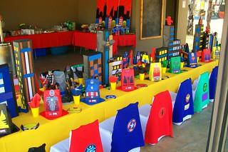 Lego Superhero Birthday Party Decorations