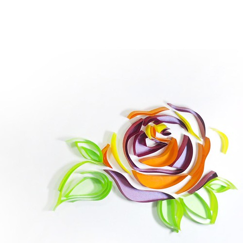 Quilled Rose by Mary Imbong