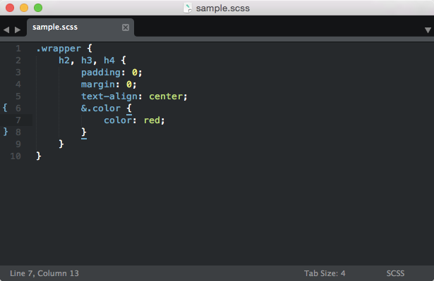 sublimetext-scss
