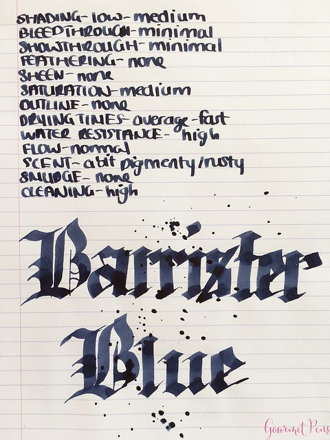 Ink Shot Review Blackstone Barrister Blue @AppelboomLaren6