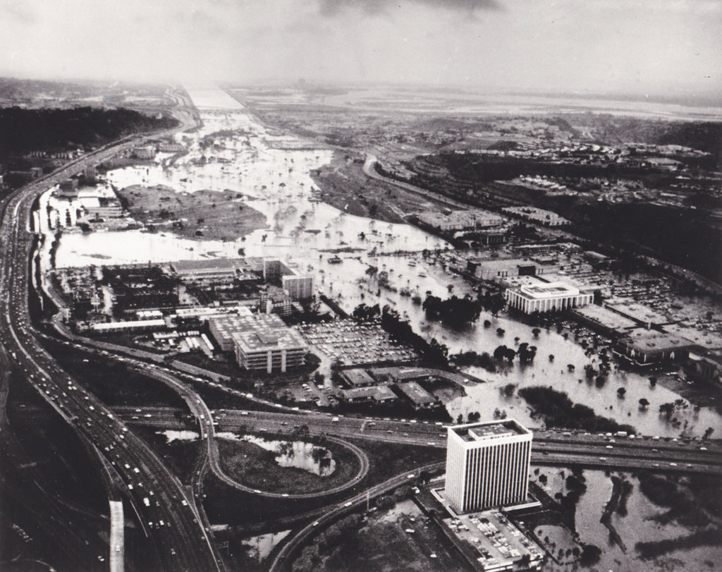 mission valley flooded late 1970s