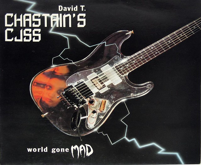 DAVID T CHASTAIN'S CJSS WORLD GONE MAD Lyrics Sleeve