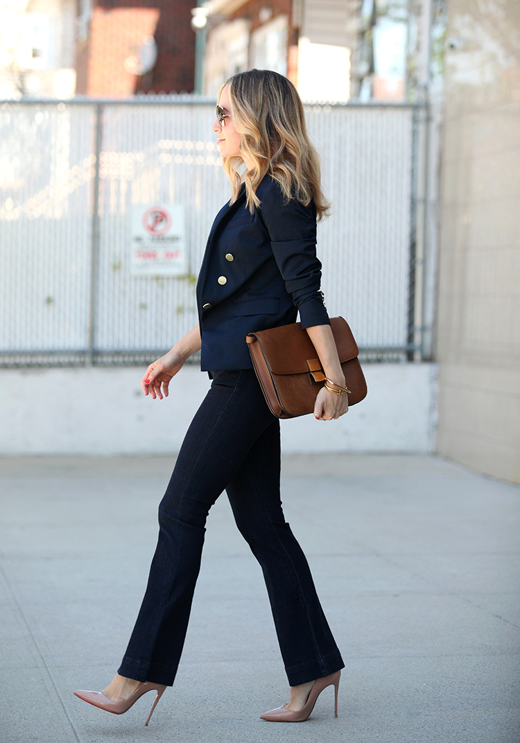 brooklyn blonde, flares, casual work style, express