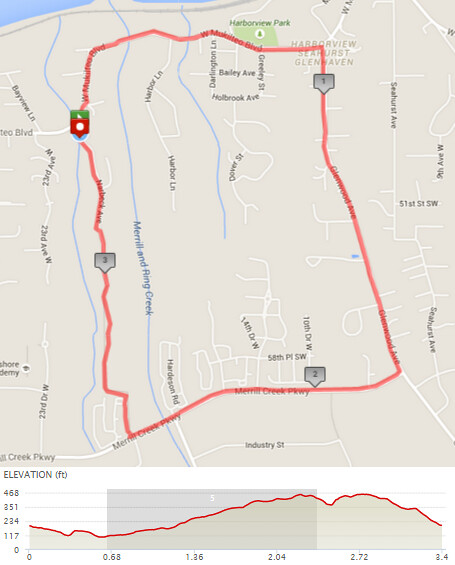 "Today""s awesome walk, 3.4 miles in 1:09, 7,317 steps, 385ft gain"