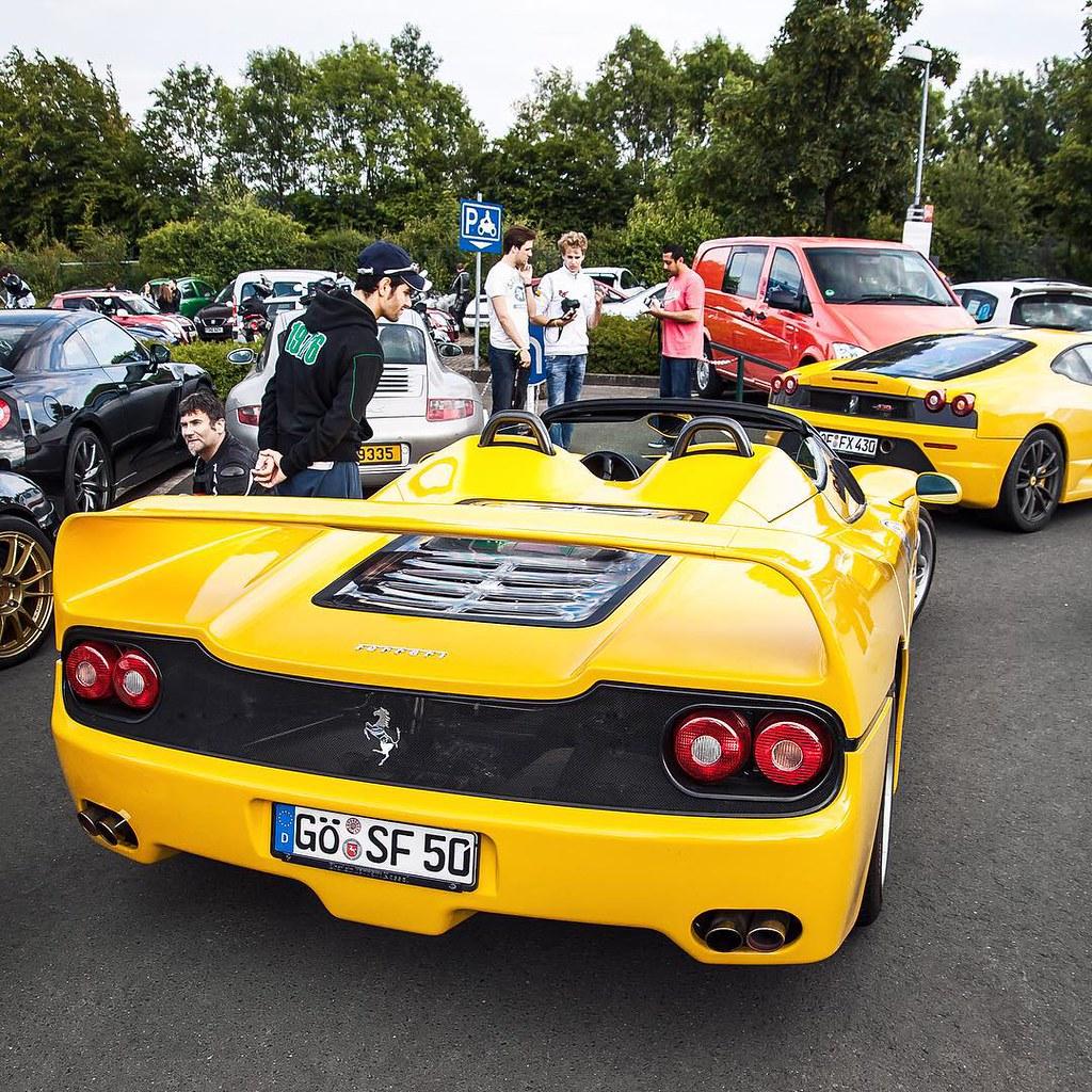 Cars colored yellow -  Car Cars Ferrari F50 Supercar Summer N Rburgring Nbrg