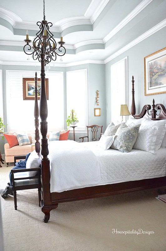 Almost All White Bedding A Winter Master Bedroom