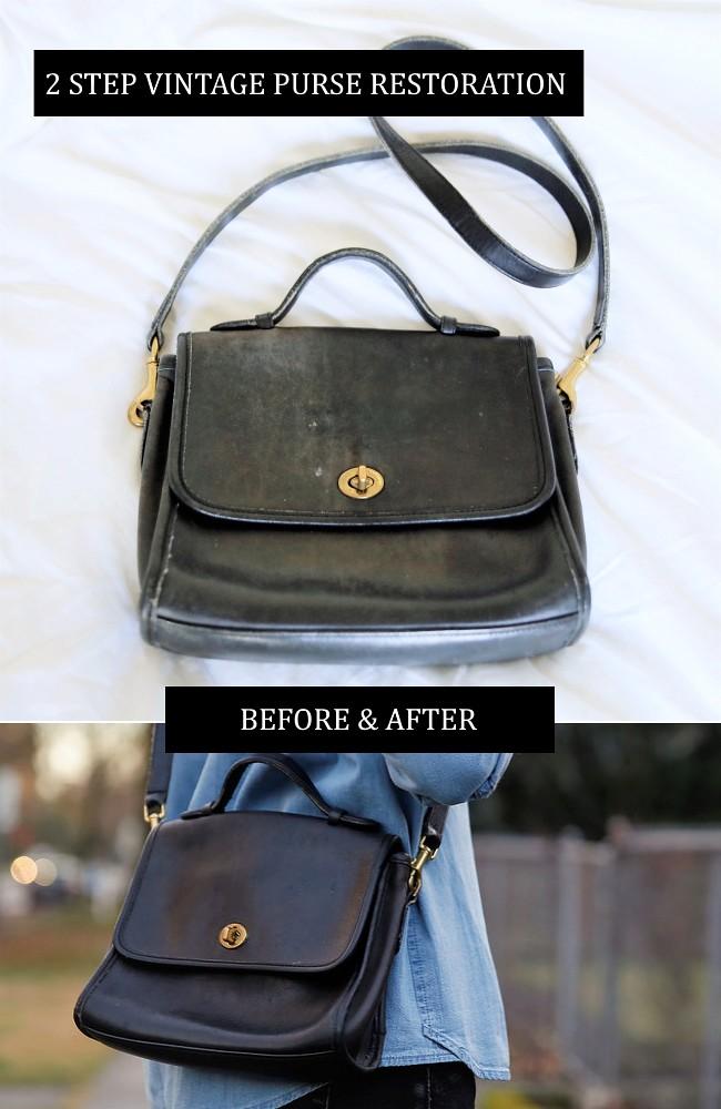 2 Step vintage purse restoration ft a vintage Coach purse